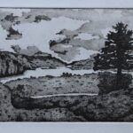 Glenveagh Donegal etching